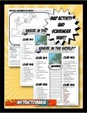 Where in the World Scavanger Hunt & Map Activity Physical