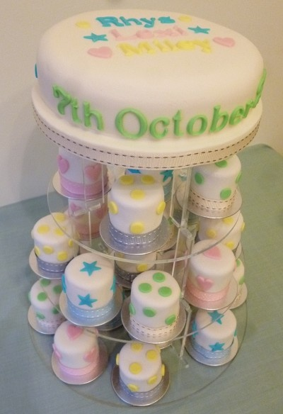 The Little Velvet Cake Company - Christening Mini-cakes (could do for other things too)