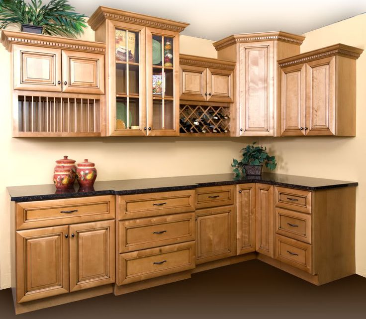 Kitchen Furniture Corner: I Like The Dark Counter With The Lighter Cabinets. It
