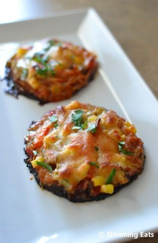 Portobello Mushroom Pizzas | Slimming Eats - Slimming World Recipes