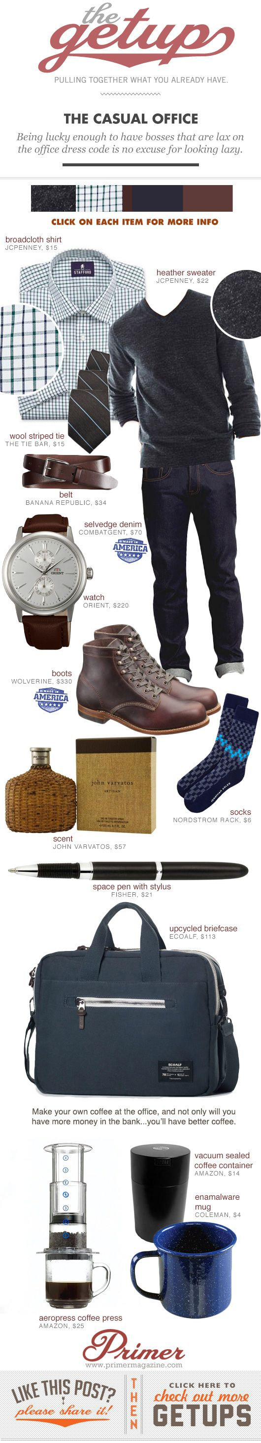 Fall Getup Week: The Casual Office - Primer < This is pretty much my ideal getup for doing anything.