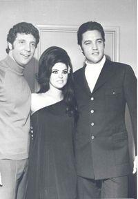Elvis and Priscilla attend a Tom Jones concert in Vegas 1967.
