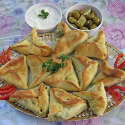 Spinach pies, yoghurt and olives- Week 3- Egyptian Food