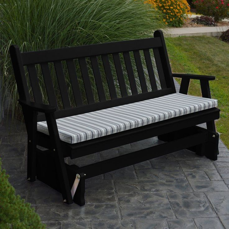 A & L Furniture Western Red Cedar Traditional English Outdoor Loveseat Glider