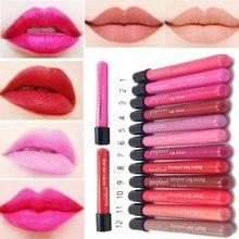 12 couleurs / Lot populaire imperméable rouge à lèvres mat lisse brillant à lèvres Long Lasting maquillage(China (Mainland))
