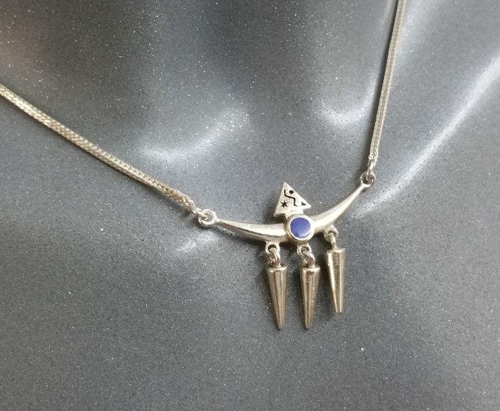 Vintage Halsschmuck - Halskette Indianer Lapislazuli Silber 925 SK634 - ein Designerstück von Atelier-Regina bei DaWanda