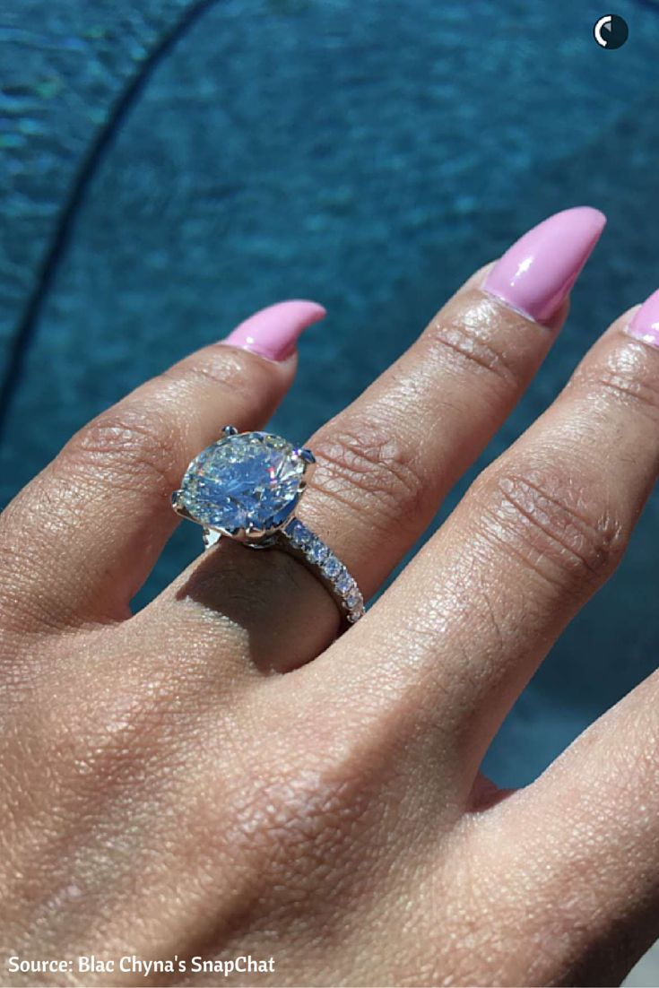 Blac Chyna Huge 7ct Solitaire Diamond Engagement Ring - Get The Look