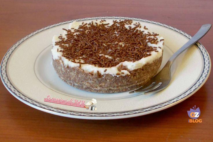 Mini torta fredda con ricotta e pan di stelle, una torta fredda monoporzione senza l'uso della colla di pesce. Blog giallo zafferano.