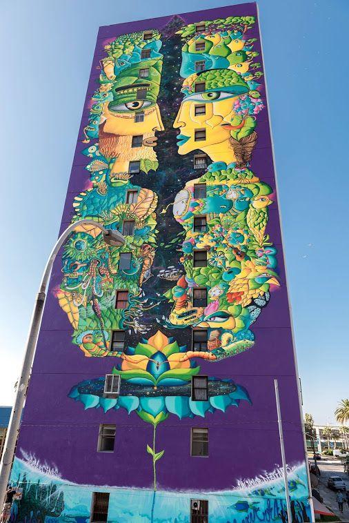 """""""Equinoccio de Primavera"""" Street art in Chile by artists Cynthia Aguilera &…"""