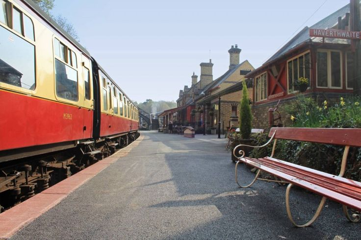 Lakeside and Haverthwaite Railway in the heart of the Lake District. Featured on our English Lake District rail holiday. https://www.greatrail.com/tours/yorkshire-lake-district/