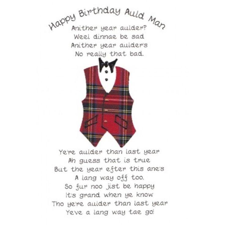 Scottish Birthday Wishes Scotland Pinterest