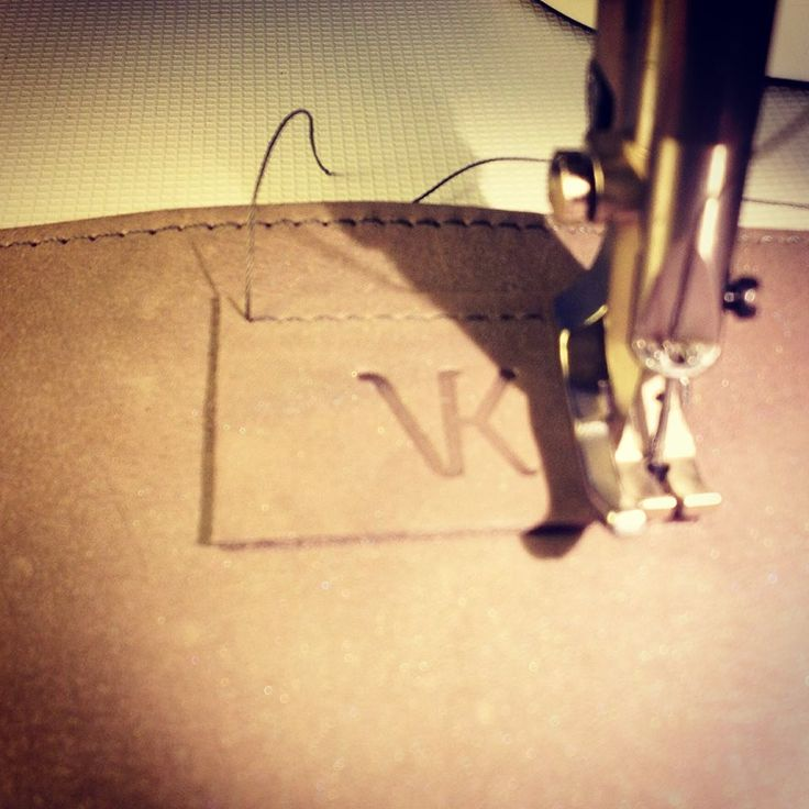 Sewing the #VANK logo on a new laptop sleeve #handmade