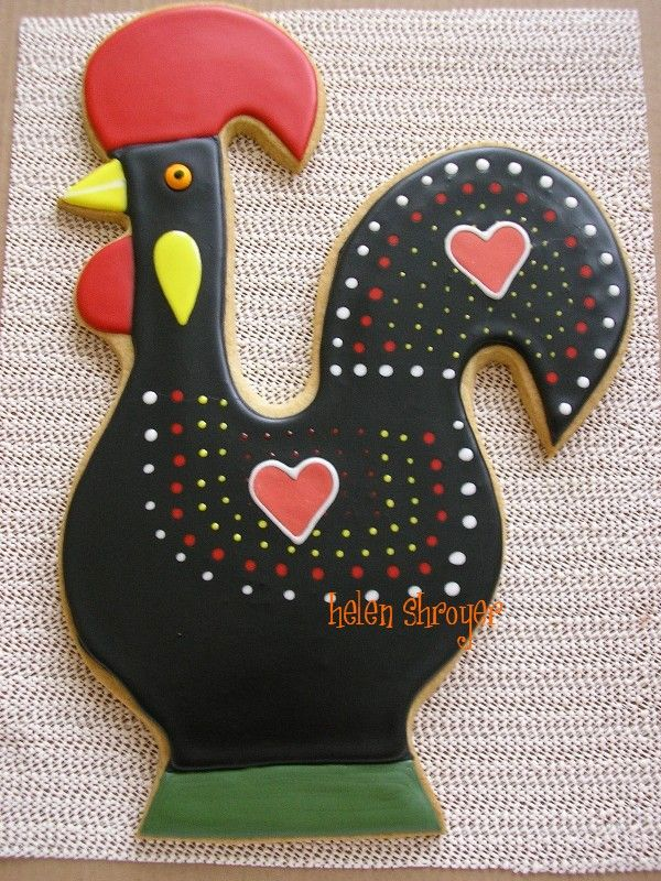 Portuguese rooster cookie
