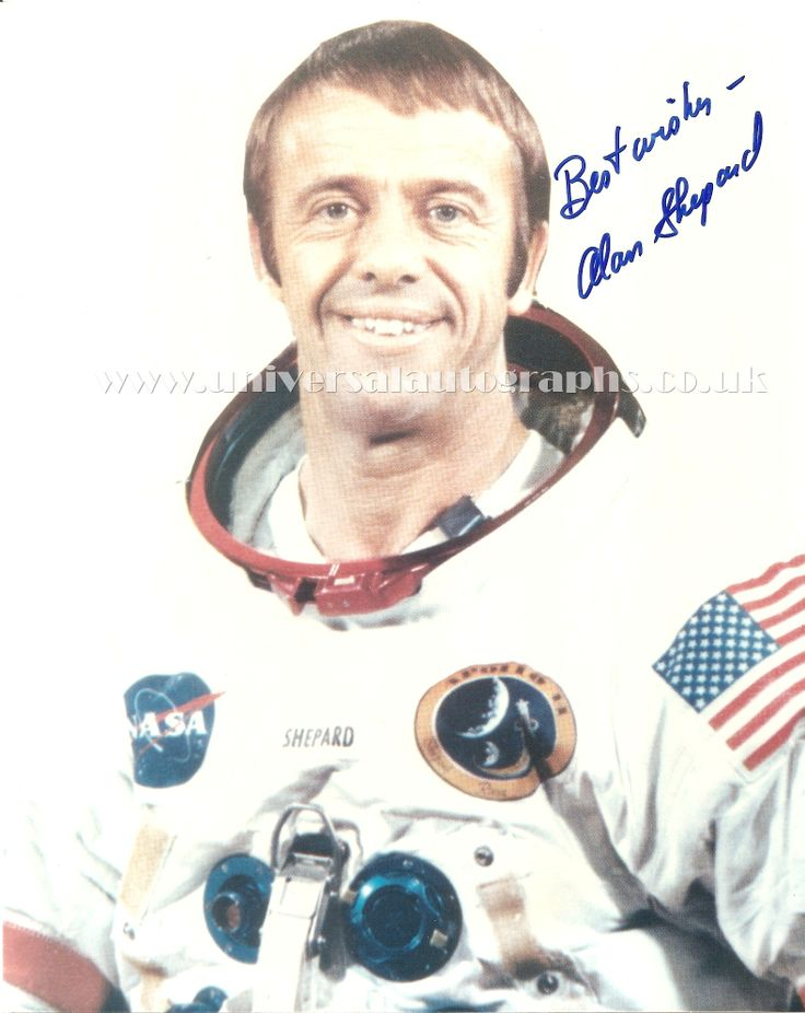 Alan Shepard signed NASA photograph Available via our website http://www.universalautographs.co.uk/apollo-14---alan-shepard-94-p.asp