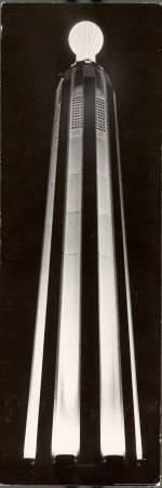 World's Biggest Bulb Tops Edison Tower, Monument on the Spot where Electric Light Bulb Was Invented Photographic Print by Margaret Bourke-White at Art.com