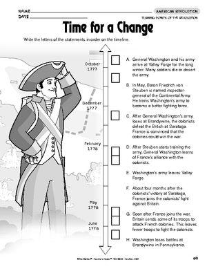 American revolution worksheets elementary