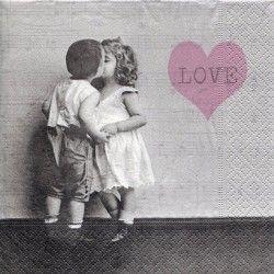 Serviett, 33x33 cm - Love is sweet