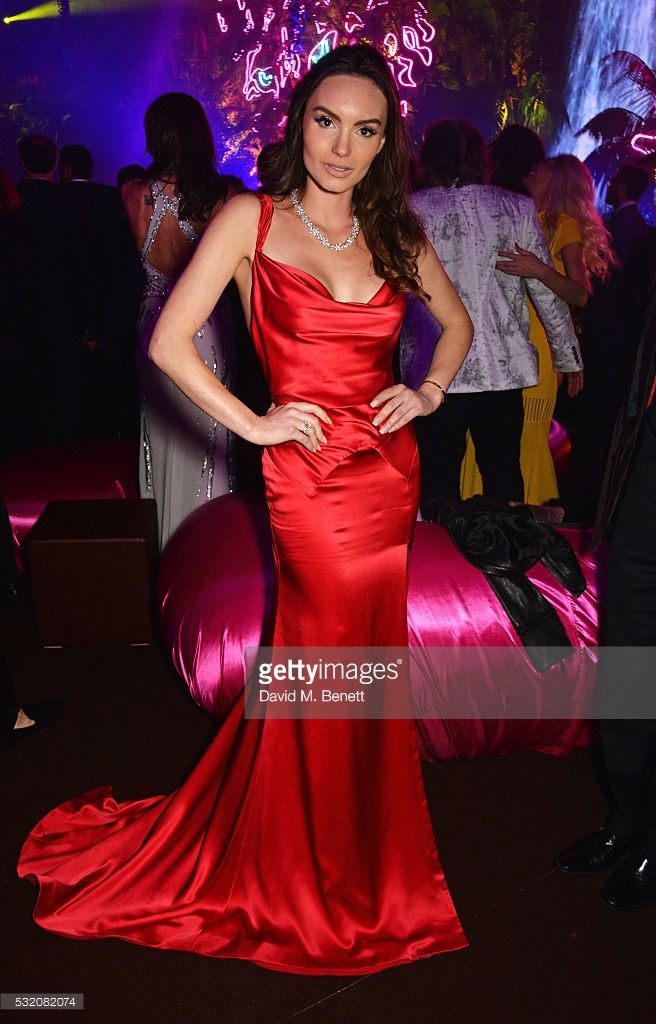 Actress Ava West wears the Sanyukta Shrestha vintage inspired, red organic silk dress 'Lapageria' as she attends the Chopard Wild Party during the 69th Annual Cannes Film Festival at Port Canto on May 16, 2016 in Cannes.