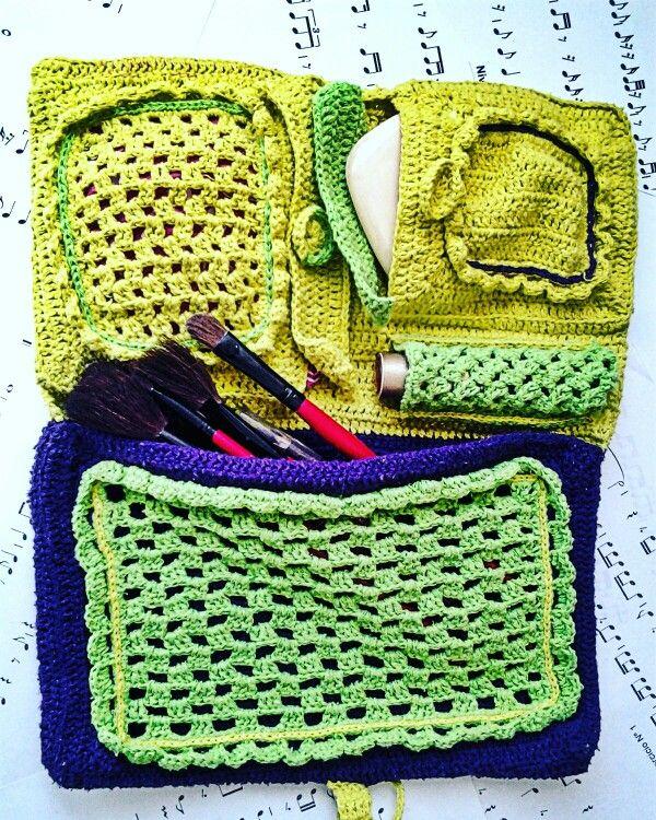 15$ cosmetic bag crochet