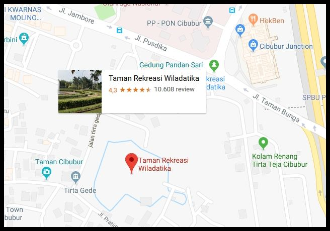 Taman Bunga Wiladatika Lokasi