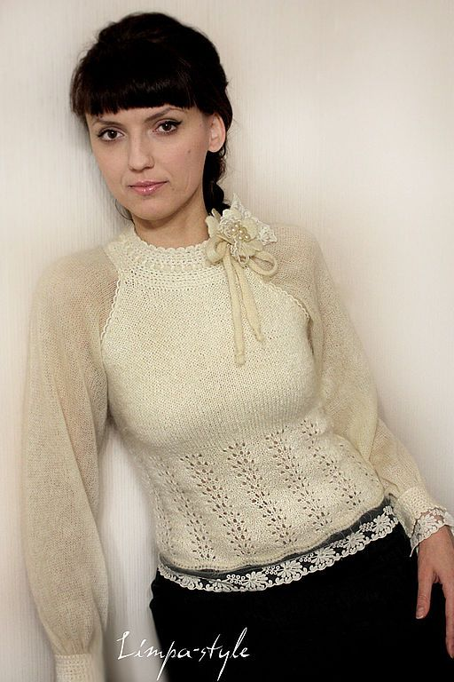 """Купить Блузка """"Торжество цвета """"Ivory""""... Винтаж - блузка, винтаж, айвори, слоновая кось, молочный"""