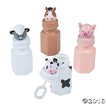 Topped with adorable animals, these bubbles are great party favors for a farm celebration! The party mood will soar at your barnyard bash when you add these ...