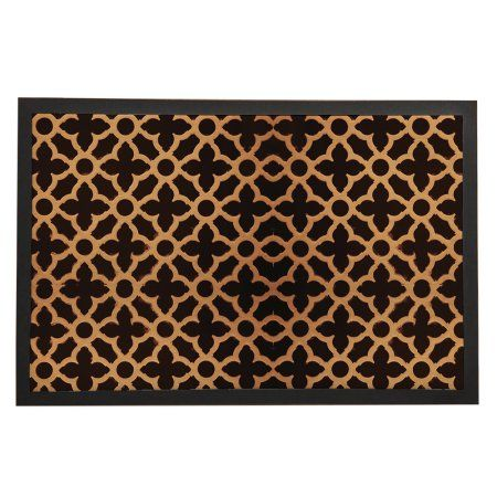 "Gold Black Art Deco Leaves Round Luxurious Decoration Entrance Rubber Welcome Home Decoration Doormat Multi-Size Indoor Mat 16""/20""/24""*24""/32""/36"""