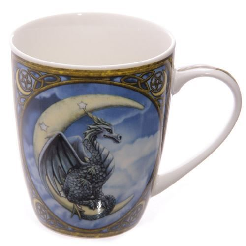 Dragon Bone China Mug One Mug - This stunning dragon mug is made from bone china and has been designed in the UK by the popular artist, Lisa Parker.