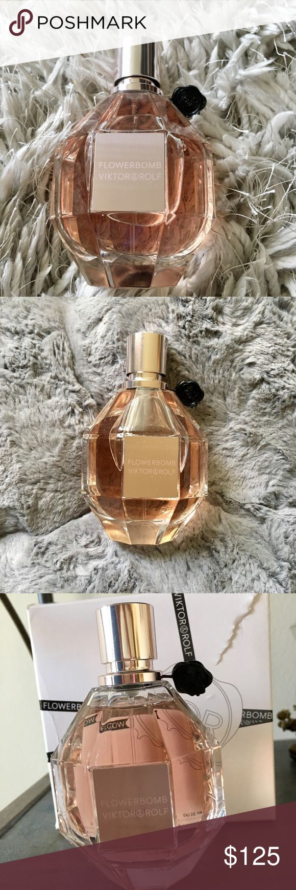 Viktor & Rolf 3.4 Ounce Flowerbomb Eau de Parfum Viktor & Rolf Flowerbomb Eau de Parfum - tester.  New, never been used. A bouquet of cattleya orchids, sambac jasmine, freesia and rose petals enriched by patchouli and vanilla. Viktor & Rolf Other
