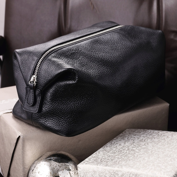 Leather Wash Bag Black Bathroom Accessories The White Company Bathroom Pinterest