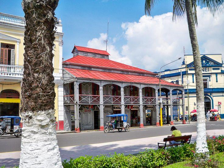 Casa de Fierro. Época del Caucho en el Historia de Iquitos, Perú.