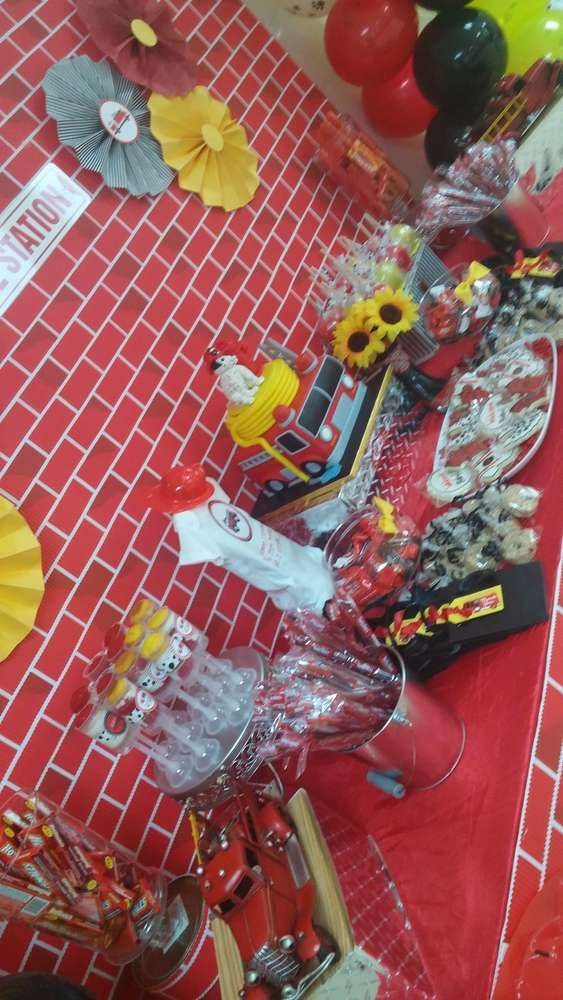Fire Truck / Firefighter Baby Shower Party Ideas | Photo 1 of 5
