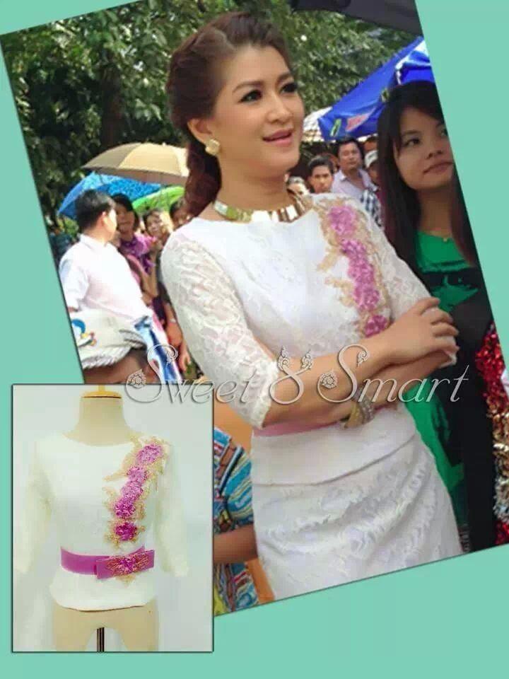 latest myanmar traditional dress design