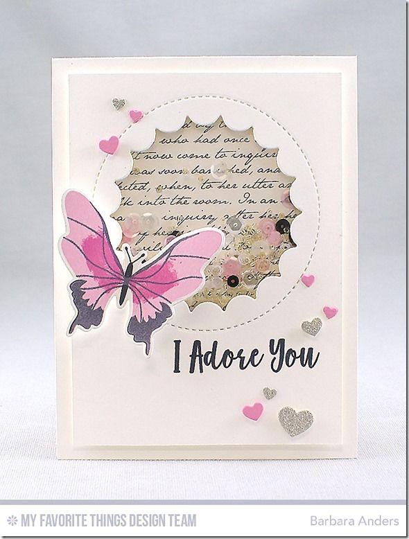 Beautiful Butterflies Card Kit, Jumbo Peek-a-Boo Circle Windows Die-namics, Tag Builder Blueprints 3 Die-namics, Tag Builder Blueprints 6 Die-namics - Barbara Anders  #mftstamps