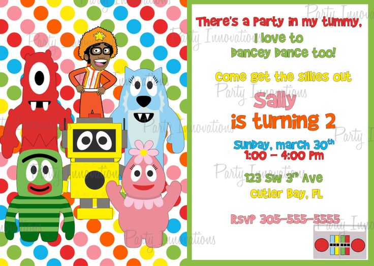 103 best yo gabba gabba party images on pinterest | yo gabba gabba, Wedding invitations