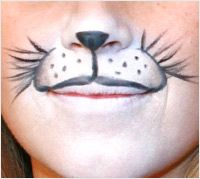 Halloween animal makeup tutorial - animal whiskers-Rabbit