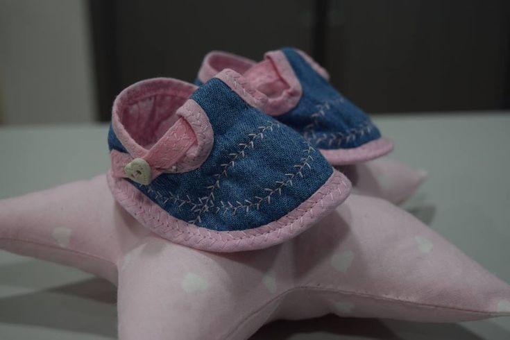 Sapato bebé  aula costura Traços e Pontos