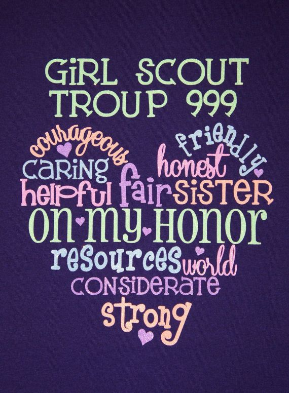 CUSTOM ORDER Girl Scout Troop T-shirt! Customize for your Troop # and favorite colors!