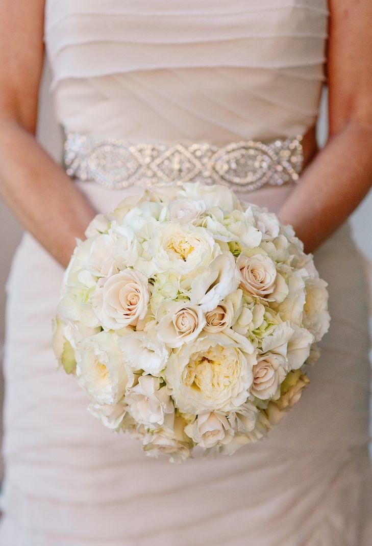 white rose garden rose and hydrangea bouquet jen dayton photogrpahy elegance