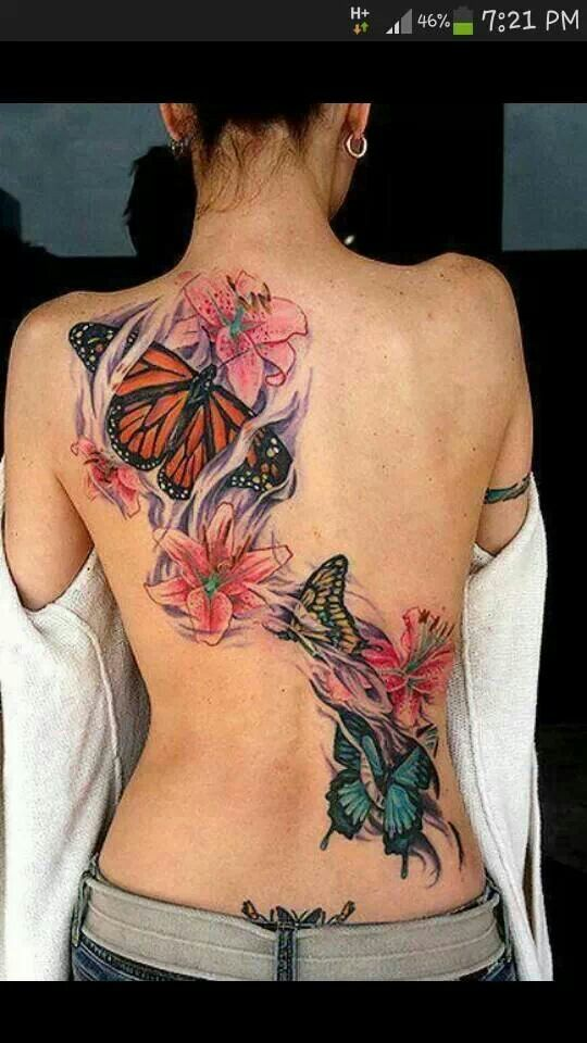 Butterfly Back Tattoos Designs