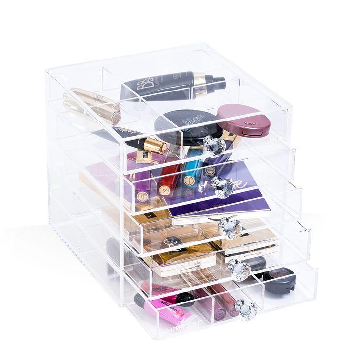 Photos On Diamond Collection Princess Tier Acrylic Makeup Organizer