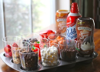 Ice cream party topping tray