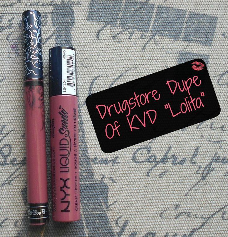 Drugstore Dupe Of Kat Von D Everlasting Liquid Lipstick in Lolita