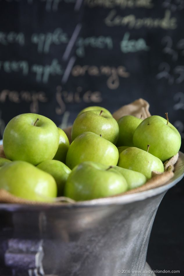 Apples at Off White Cafe, Athens, Greece