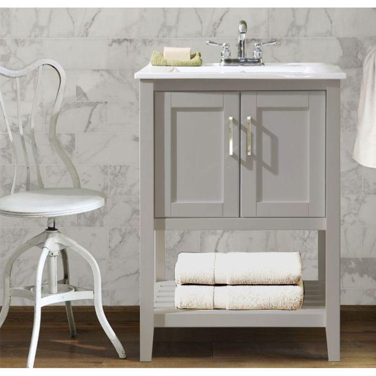 Legion Furniture WLF6020 G Universal Gray Single Basin Bathroom Vanity Sets    EFaucets.com. Small Bathroom VanitiesSmall BathroomsBathroom ...