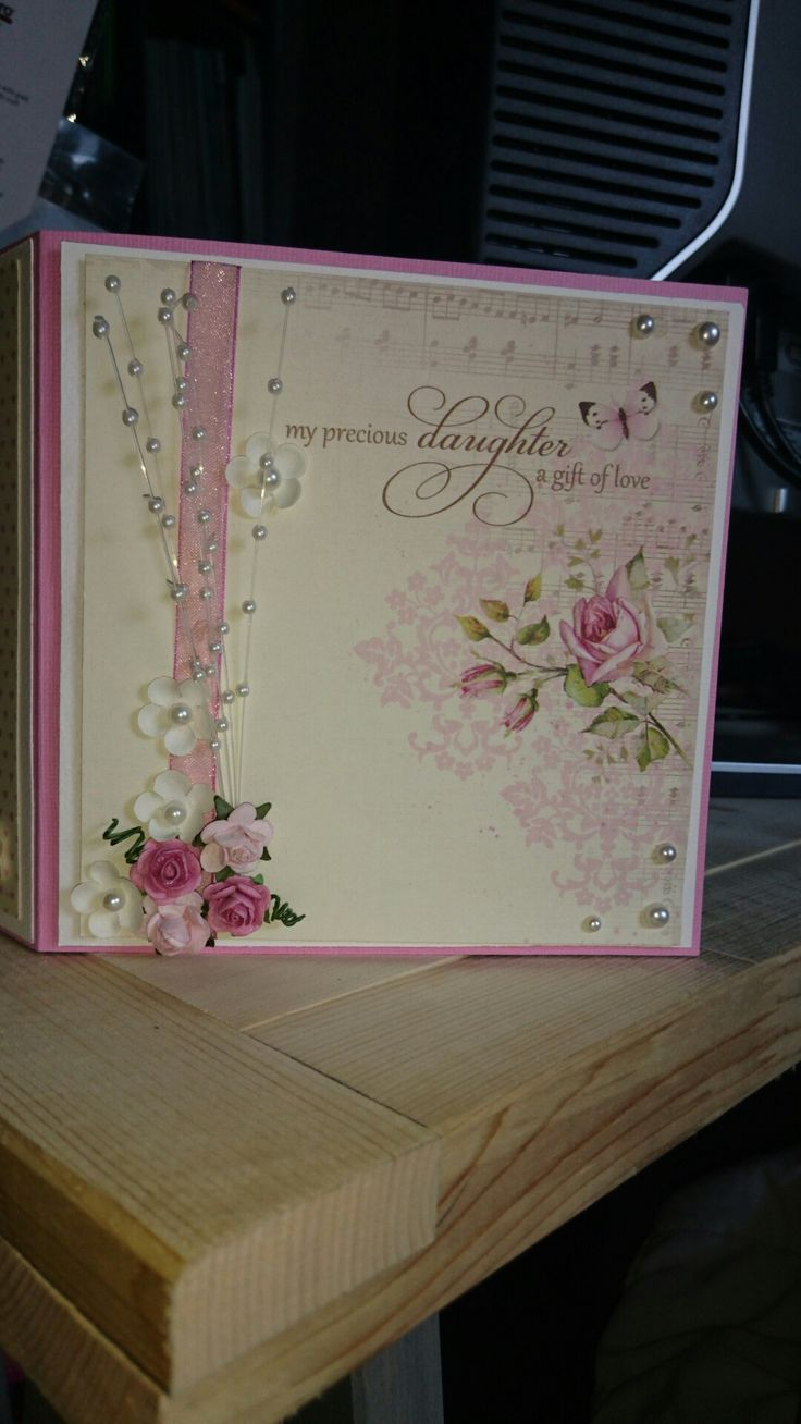 A card for a baby girl and her mother. Made by me