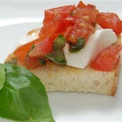 truffled tomato bruschetta roasted tomato and fresh mozzarella ...