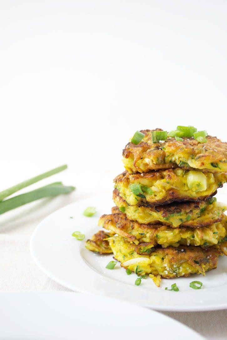 Golden Turmeric Zucchini Fritters