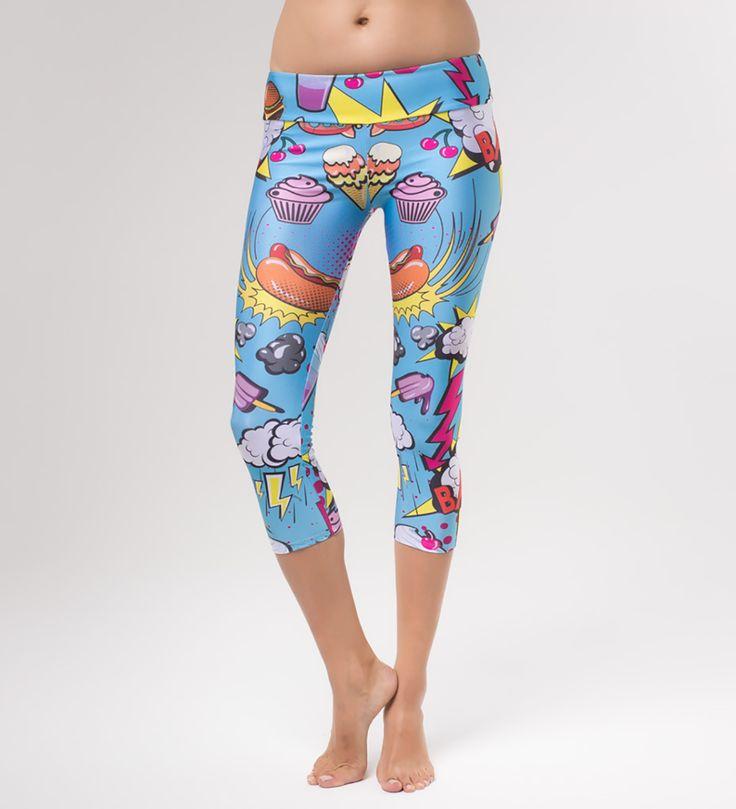 Comics yoga pants, Mr. GUGU & Miss GO