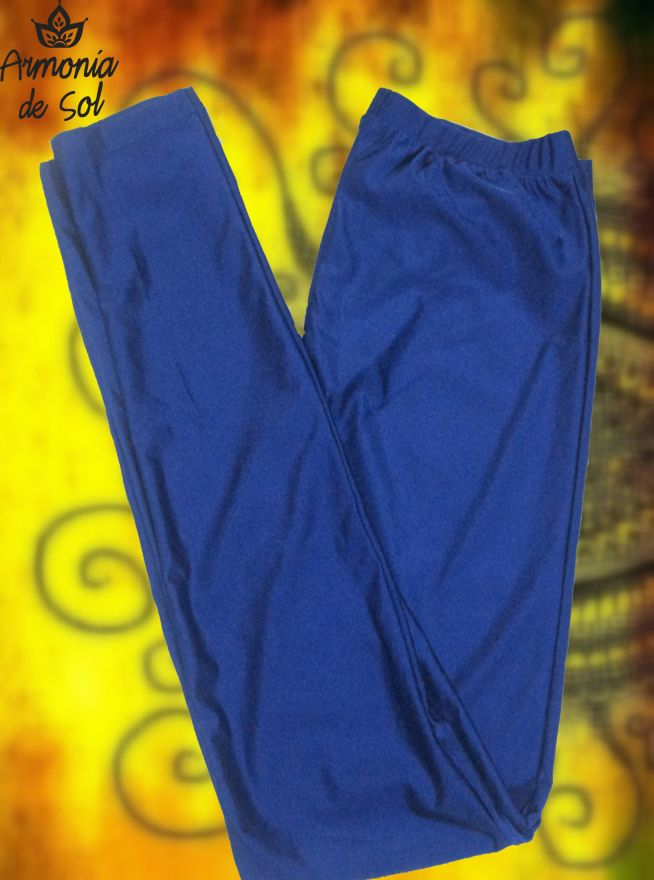 Calza de lycra azul. Talle único